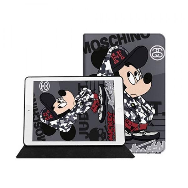 モスキーノ Moschino ディズニー Disney コラボ したアイパッドエア4ケース 10.9Inch 横開きIpad 8カバー 10.2インチ 激安 ブランド すべてのIpad機種対応モノグラム ダミエ アイパッド 6/5/4/3/2ケース 手帳型IPad Proケース 11/12.9インチ 2017/2018