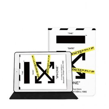 オフ-ホワイトブランドipad7/6/5/4ケースファッションアップルタブレットタブレットpc保護ケースair3mini /10.2 pro11インチカバー2020型