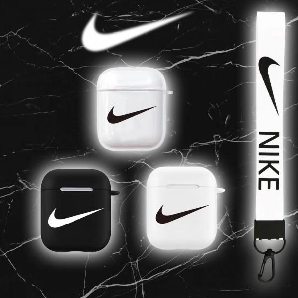 Nike 透明感 airpods pro1/2ケース スポーツ風 全機種対応 男女対応 ナイキ エアーポッズ プロ1/2ケース ストラップ付き 充電可 在庫あり韓国 高級 人気 耐衝撃 送料無料 激安 持ち便利