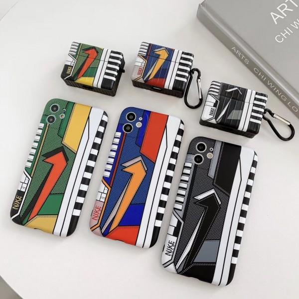 スポーツ風 Nike iphone12/11/11 pro/11 pro max/se2ケース Airpods Pro 1/2ケース ブランド ナイキ 韓国 充電 カラビナ付き ファッション ナイキ アイフォンx/xs/xr/8/7カバーエアーポッス1/2ケース TPU メンズ レデイーズ  人気 個性 高級 全機種対応