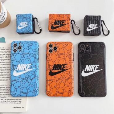 箱型 Nike iphone12/11pro max/se2ケース スポーツ風 カラビナ付き airpods pro1/2ケース 耐衝撃 防塵 メンズ レデイーズ ナイキ アイフォンx/xs/xr/8/7カバー  激安 ブランド エアーポッズ 1/2ケース