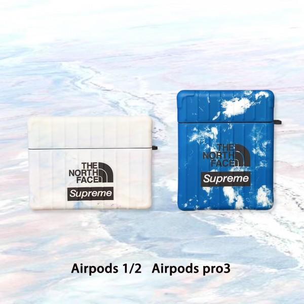ストラップ付き 韓国 supreme airpods pro1/2ケース 耐衝撃 メンズ レデイーズ  ブランド 全機種対応 在庫あり シュプリーム エアーポッズ プロ1/2ケース 学生 人気 キズ防止 激安