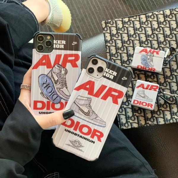 ナイキ ディオール スマホケース iphone12/11pro max/se2ケース おもしろairpods pro1/2ケース ブランド パロディ air dior アイフォンxs/xs max ケース 個性的 かわいい エアーポッズ プロ1/2ケース 携帯カバー トレンド NIKE iphoneケース 安い