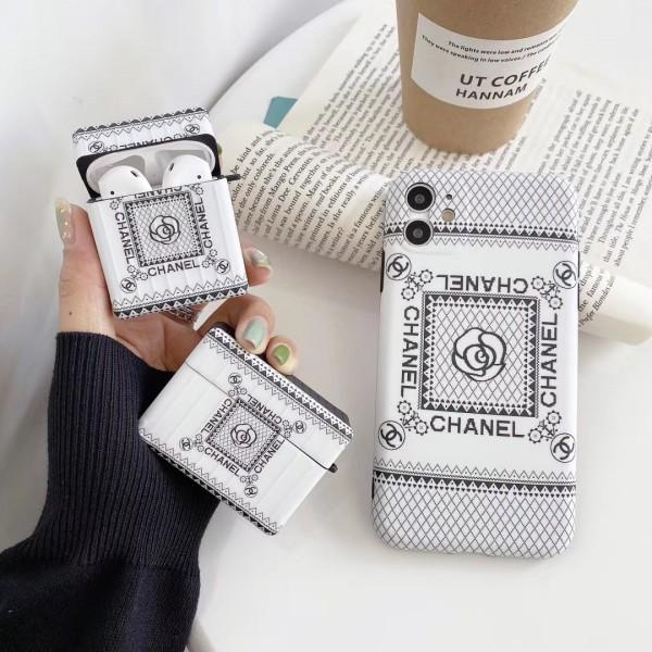 ブランド風 シャネル  iphone12/11pro max/se2ケース airpods pro1/2ケース  在庫あり 防塵 全機種対応 カップル  Chanel アイフォンx/xs/xr/8/7カバー ファッションエアーポッズ 1/2ケース