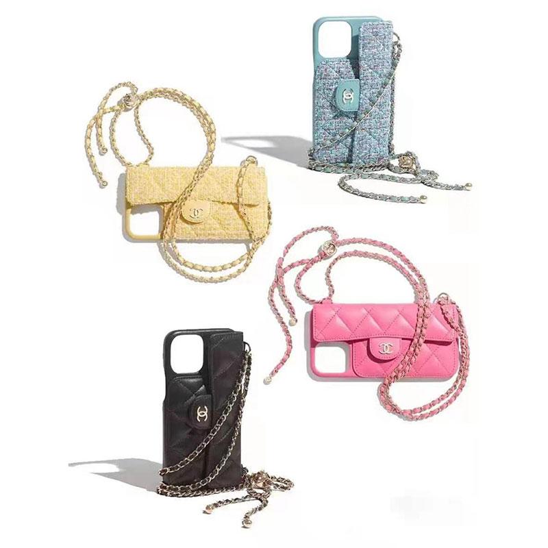 Chanelブランドチェーンストラップ付きiphone11/11promaxケース