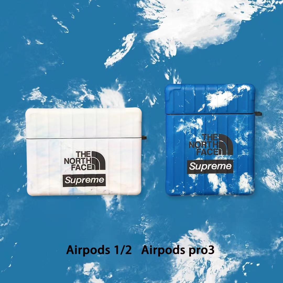 ストラップ付き 韓国 supreme airpods pro1/2ケース