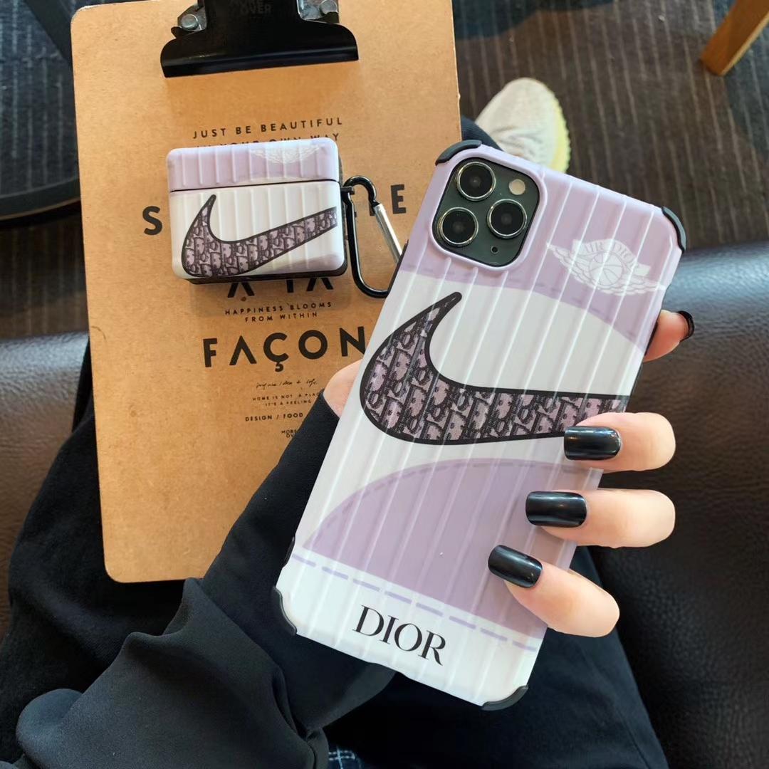 オシャレ Nike iphone12/11pro max/se2ケース Dior airpods pro1/2ケース